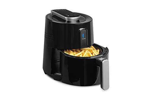 MEDION Heißluftfritteuse 1300 Watt, 2,6 Liter, öfreies Frittieren ohne Fett, Cool-Touch-Griff, Temperaturkontrolle bis 200°C, MD 17768, schwarz