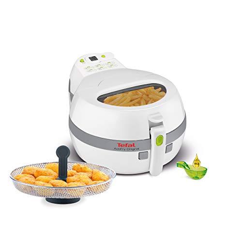 Tefal FZ7110 ActiFry Original Snacking Heißluftfritteuse (1400 W, Kapazität 1 kg, mit Snacking Garkorb, gleichmäßig knusprige Pommes, Airfryer ohne Fett, automatischer Rührarm, Timer, geruchsfrei)