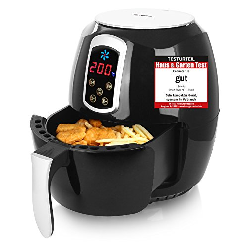 Emerio Heißluftfritteuse, Airfryer, Smart Fryer, Test 'GUT', Frittieren ohne Öl, 3,6 Liter Volumen, 1400 Watt, AF-115668