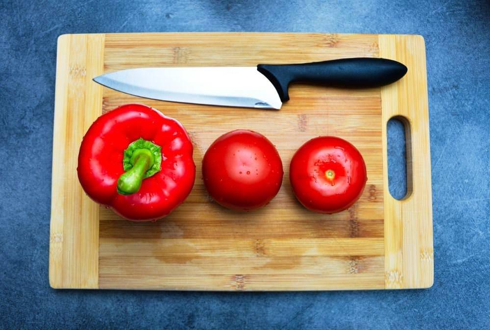 Paprika Tomate Messer