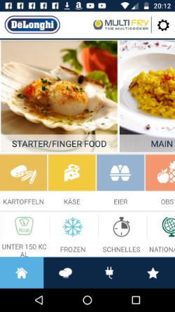 Die De'Longhi Rezeptbuch App