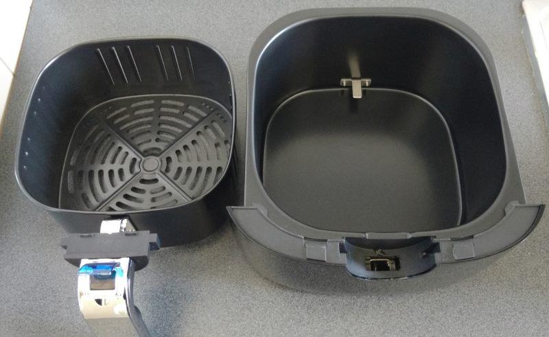 Klarstein VitAir Fries Touch Heißluftfritteuse Frittierkorb und Frittierschale getrennt