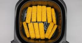 12 Fischstäbchen in der Heißluftfritteuse